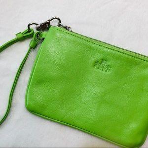 Rowallan Small Green Leather Wristlet